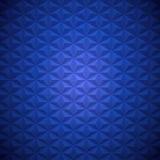 深刻的蓝色抽象六角形塑造了三角金字塔方形的背景 库存照片