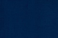 深刻的蓝色皮革背景 免版税库存图片