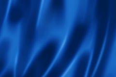 深刻的蓝色缎纹理 库存照片