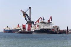 深水建筑船 库存照片