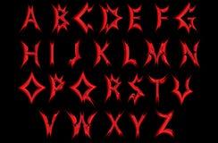 深刻红色字母表 向量例证