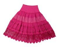 深紫红色裙子 库存照片