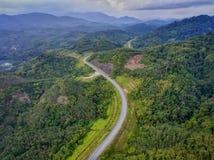 深绿色高速公路 图库摄影