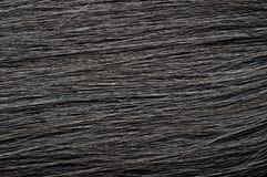深黑色头发纹理 免版税库存图片