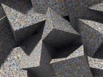 混乱具体立方体块建筑学墙壁背景 向量例证