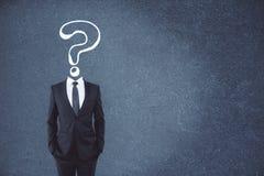 混乱和常见问题解答概念 图库摄影