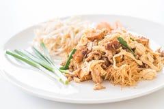 混乱在泰国样式的油炸物面条 免版税库存图片