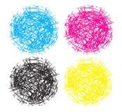 混乱巢球球形商标元素 皇族释放例证