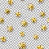 混乱星无缝的样式 库存照片