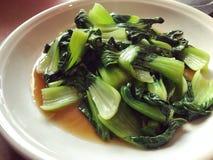 混乱油煎的中国菜nai bai 免版税库存照片