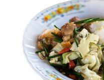 混乱油煎的猪肉用花椰菜 免版税库存图片