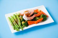 混乱油煎的菜用虾 图库摄影