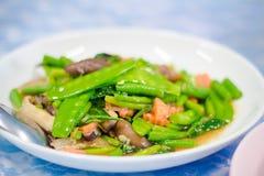混乱油煎的蔬菜 免版税库存图片