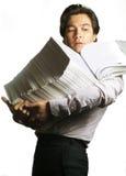 混乱的生意人 免版税库存照片