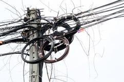 混乱的缆绳 免版税库存照片