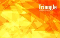 混乱移动的三角橙色抽象背景  从淡黄色的梯度到红色 向量例证