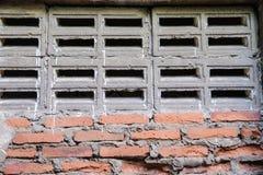 混凝土和blick块墙壁 免版税图库摄影
