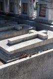 混凝土在叻丕府,泰国横渡在坟墓每年祝福的坟墓  库存图片