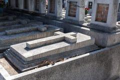 混凝土在叻丕府,泰国横渡在坟墓每年祝福的坟墓  库存照片