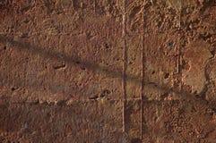 混凝土墙上色与温暖的口气 免版税库存照片