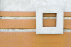 混凝土墙有方形的框架背景 图库摄影