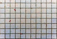 混凝土或大卵石灰色路面平板或石头 免版税库存图片