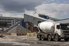 混凝土或水泥工厂 免版税图库摄影