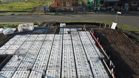 混凝土板奶蛋烘饼平板准备澳大利亚建造场所 股票视频