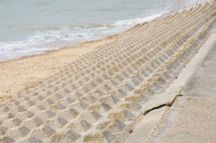 混凝土沿海防护建筑物 免版税库存图片
