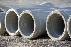 混凝土用管道输送下水道 免版税库存照片