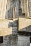 混凝土的抽象几何背景 图库摄影