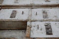 混凝土结构的模子在工厂 库存照片