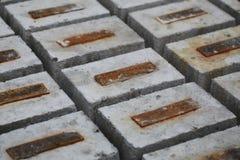 混凝土结构的模子在工厂 库存图片