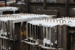 混凝土结构的模子在工厂 图库摄影