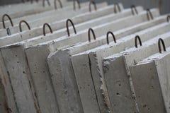 混凝土结构的模子在工厂 免版税库存照片