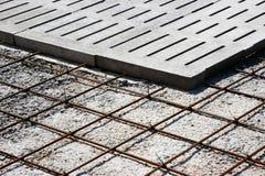 混凝土被加强的结构 库存照片