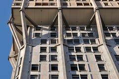 混凝土装饰米兰塔velasca 免版税库存照片