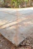 混凝土路锋利的曲线  库存照片
