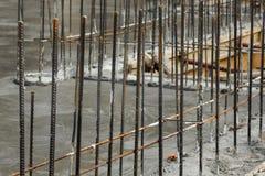 混凝土钢筋铁棍 库存图片