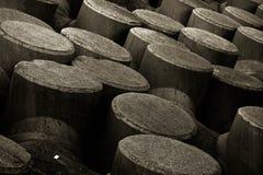 混凝土防波堤结构摘要  免版税图库摄影