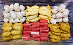 混合亚洲海鲜开胃菜盘 库存图片