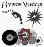 混合动力车辆,传染媒介 免版税库存图片
