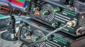 混合合理的演播室控制板 免版税图库摄影