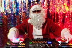 混合圣诞老人 库存照片