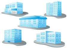 混合在白色背景的设计大厦 向量例证