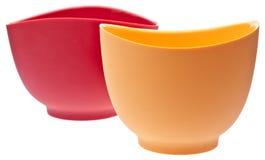 混合对硅树脂的碗 免版税图库摄影