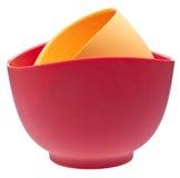 混合对硅树脂的碗 免版税库存照片