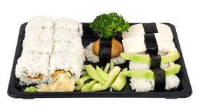 混合寿司素食主义者 免版税库存照片