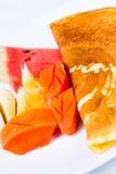 混合果子绉纱 库存图片