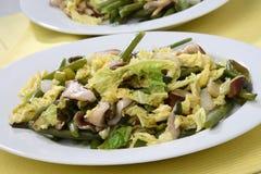 混合沙拉蔬菜 库存照片